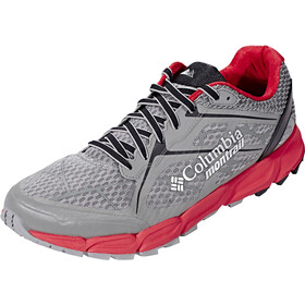 Columbia Caldorado II Zapatillas Hombre, charcoal/bright red